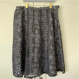 Norton McNaughton 20W Plus Size Layered Full Skirt